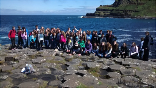 Year 11 field trip to the Giants Causeway, County Antrim.
